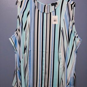 NWT Limited Vertical Stripe Navy Sleeveless 3XL